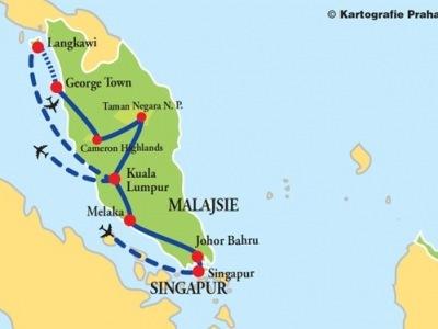 Velká cesta Singapurem a Malajsií