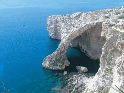 Modrá jeskyně Malta