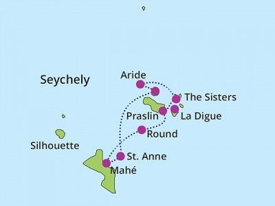 Plachetnicí Seychelským souostrovím