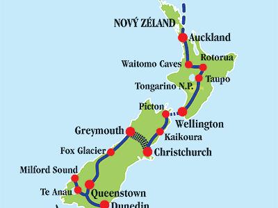 Nový Zéland od severu k jihu
