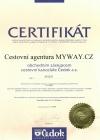Certifikát Čedok