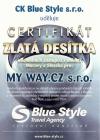 Certifikát Blue Style 2009