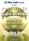 Certifikát Blue Style 2010